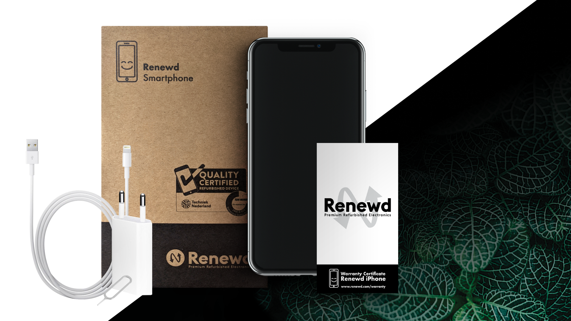 Packaging and accessories Renewd